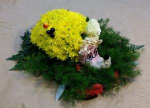 необычная цветочная композиция