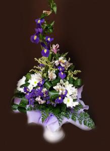 букет мужской из живых цветов